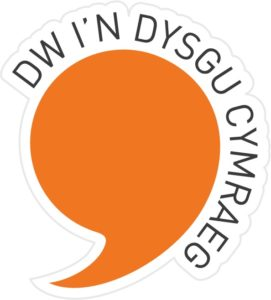 Dw i'n dysgu Cymraeg badge - Welsh learner badge